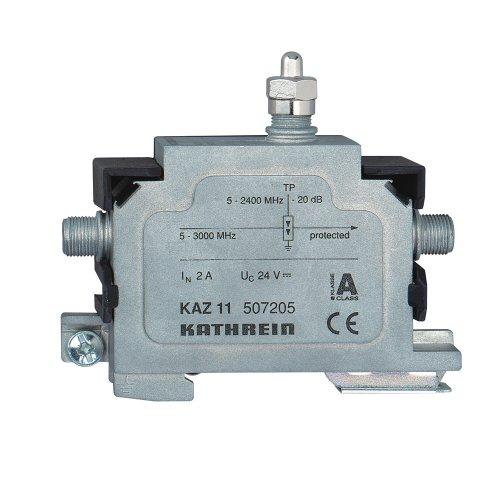 Kathrein KAZ 11 Überspannungsschutz für Antennen-Empfangs und Verteilanlagen (F-Buchse-Anschluß) 5-3000MHz 1,2-2,0 dB