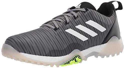 adidas Codechaos Herren-Golfschuh, Grau Three/Signal Green/Glory Blue, Größe 45