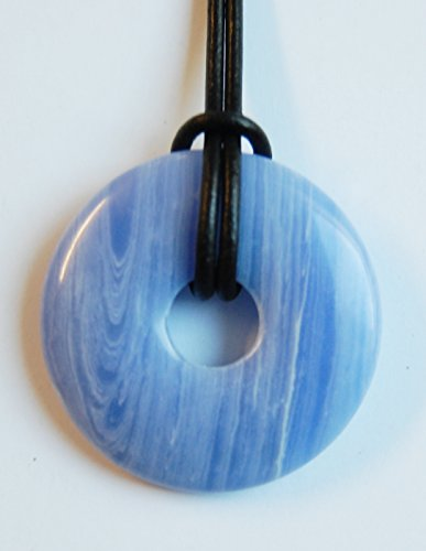 Edelstein-Anhänger, Donut rund, 40 mm, Chalcedon Synth.