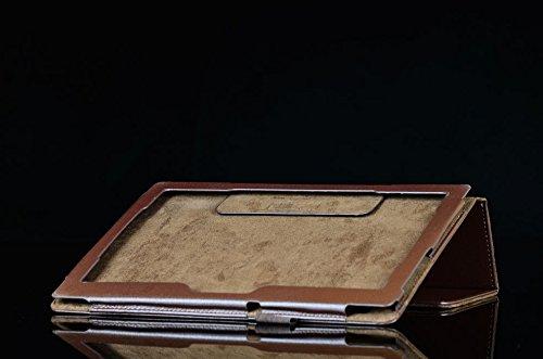 Lobwerk Tasche für Lenovo Tab 2 A10-70F 10.1 Zoll Schutz Hülle Flip Tablet Cover Case A10-70L (Braun) NEU