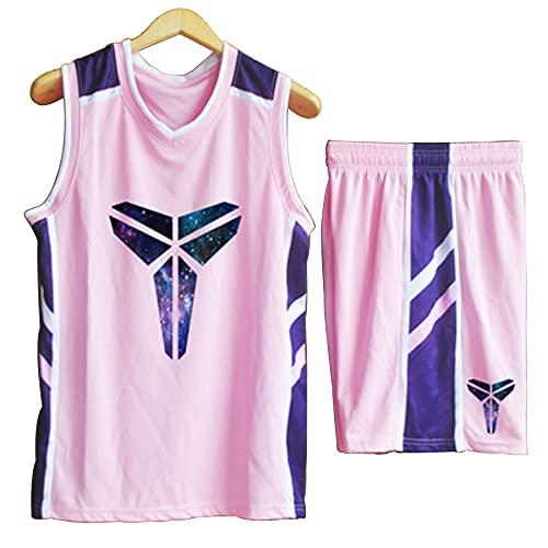 QJJ Camiseta De Baloncesto Kobe Bryant Black Mamba, Traje De Uniforme De Baloncesto Transpirable 24# para Hombres, Ropa Deportiva De Uniforme De Equipo De Baloncesto De 4-XL