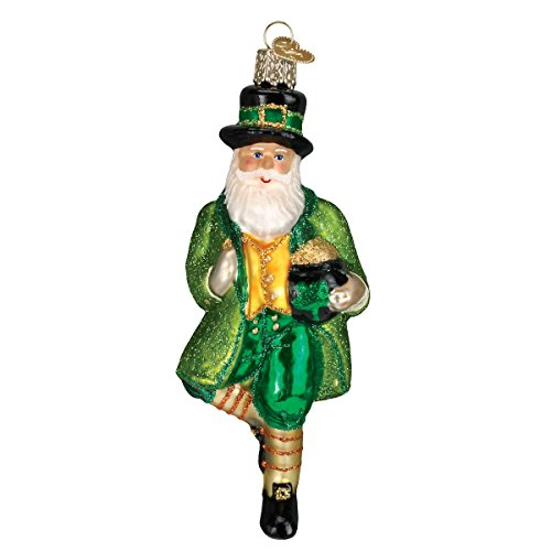 Old World Christmas Assortment Glass Blown Ornaments for Christmas Tree Irish Santa