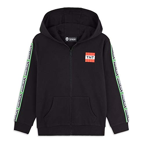 Minecraft Hoodie Kinder, Pullover Creeper Design für Jungen und Teenager, Gamer Coole Pullover, Originale Sweatshirt, Geschenke für Kinder Gamers Jugend (Schwarz, 11-12 Jahre)