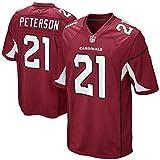 Uniforme de Rugby Saint Louis Cardinals 21# Peterson Vêtements Demi-Manches Unisexe Match Sport Gift T-Shirt Shirt,A,L