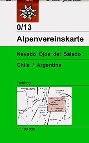 Nevado Ojos del Salado: Topographische Karte 1:100000 (Alpenvereinskarten)