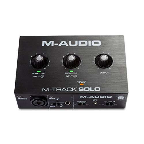 M-Audio M-Track Solo – USB Audio Interface for Recording, Streaming...