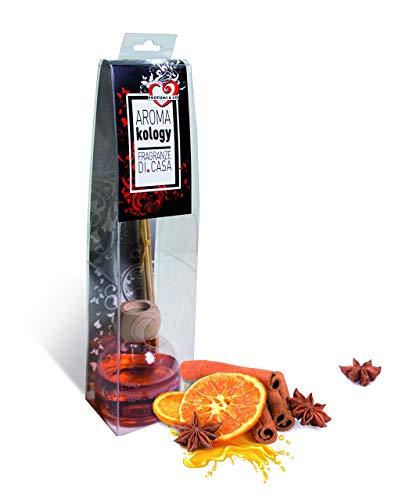 Profumi & Co -Aromakology - El único Perfume de Ambiente Que Funciona sin tornearlo - Súper Concentrado - Duracion 70 días (Canela Naranja)