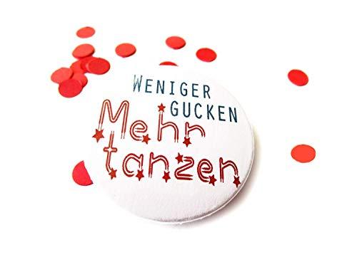Tanzen, Button Magnet Flaschenöffner Spiegel