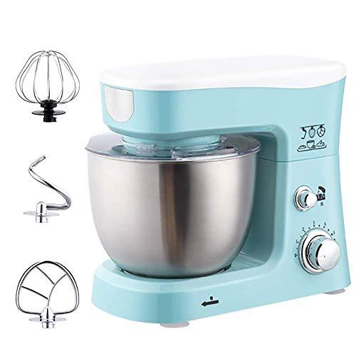 Milchaufschäumer CS-D600W Food-Stand Mixer, 3-in-1-Beater/Whisk/Knethaken Desktop-Ei-Klopfer Tasse mit (Color : Lightblue, Size : One Size)