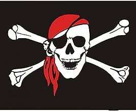 Vlag, vlag, piraten doodskop, versterkte naden - voor motorfietsen Custom - Harley - Trikes