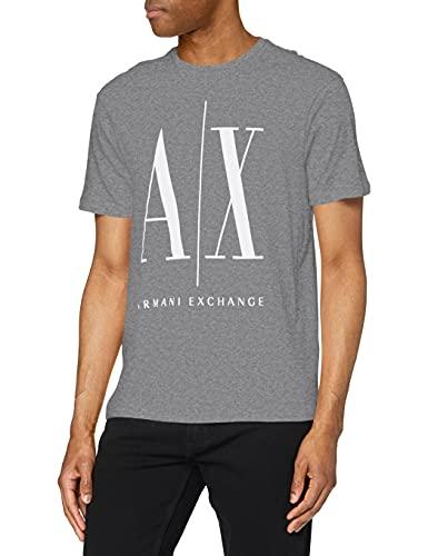 ARMANI EXCHANGE Logo Icon Tee T-Shirt, Grigio (Bc09 Grey 3930), X-Large Uomo