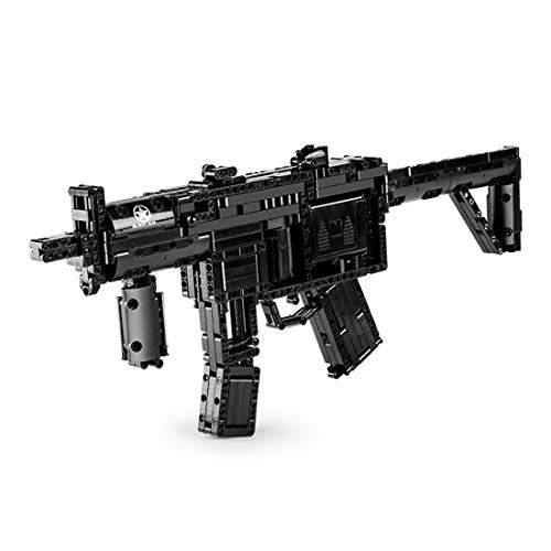 Lingxuinfo Gun Model Kits for Adults, 783+Pcs MP5 Blaster Model Kit, Simulation Mechanical Weapon Building Block with Motor Toy