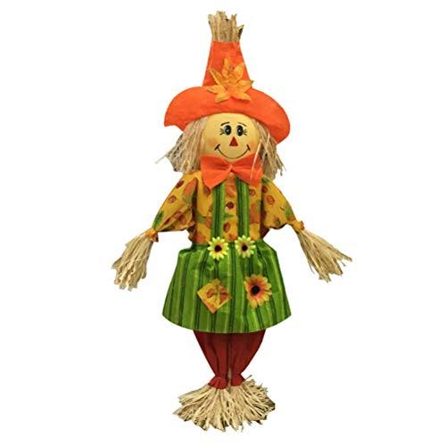 SUPVOX - Espantapájaros para Halloween, decoración de clase de jardín de infancia, accesorios de decoración para muñecas, de pajita y decoración de tamaño pequeño