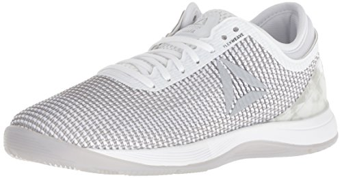 Reebok Women's Crossfit Nano 8.0 Flexweave Workout Joggers, White/Skull Grey/Pure Silver, 7.5 M US