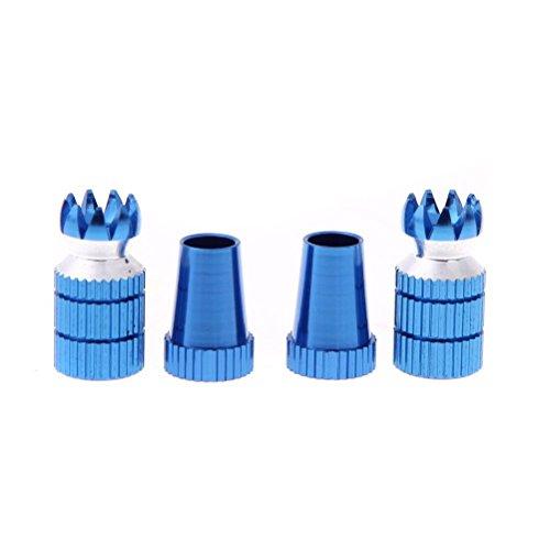 vorcool M33mm metal emisor Stick antideslizante Caps para Futaba/Walkera/JR transmisor–Un par (Azul)