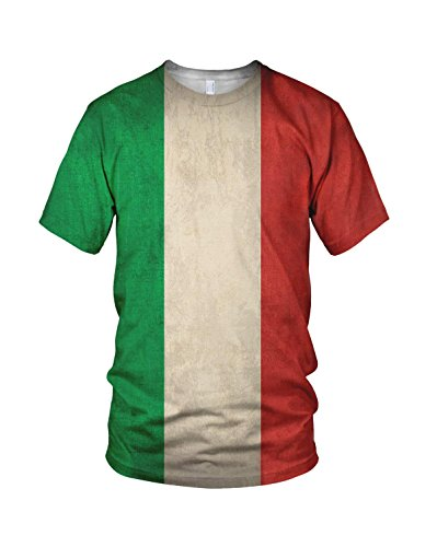 Imprimé Italie Drapeau Homme Mode T Shirt - Medium