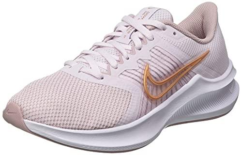 Nike Downshifter 11, Zapatos para Correr Mujer, Light Violet Champagne White Metallic Red Bronze, 39 EU