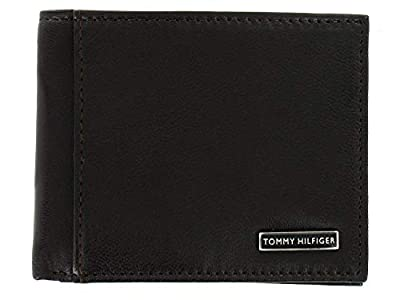 Tommy Hilfiger Men's Leather Passcase Bifold Billfold Wallet