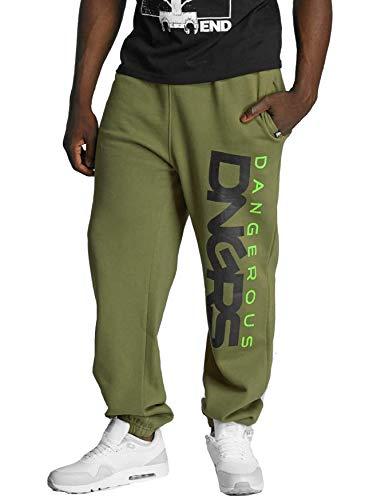 EGOMAXX DNGRS Herren Jogginghose Classic Urban Jogger Sewat Pants, Farben:Khaki, Größe Hosen:M
