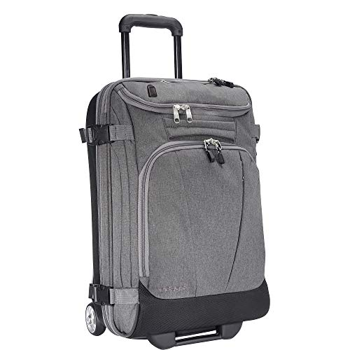 eBags Mother Lode 21 Inches USB Carry-On Rolling Duffel (Heathered Graphite w/USB)