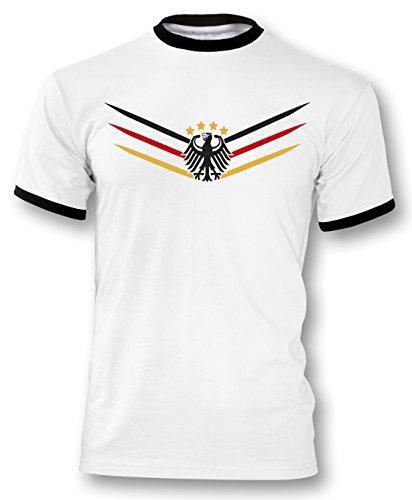Luckja EM 2016 Deutschland Trikot Fanshirt Retro-Look M 02