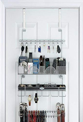 White Longstem Organizers Over-Door//Wall Jewelry Organizer Rated Best Unique Patented Product