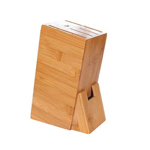 SPARKX Tenedor De Cuchilla Multifunción De Bambú, Caja De Almacenamiento del Soporte De Cuchillo, Soporte De Cuchillo De Cocina De Madera Maciza para Utensilios De Cocina