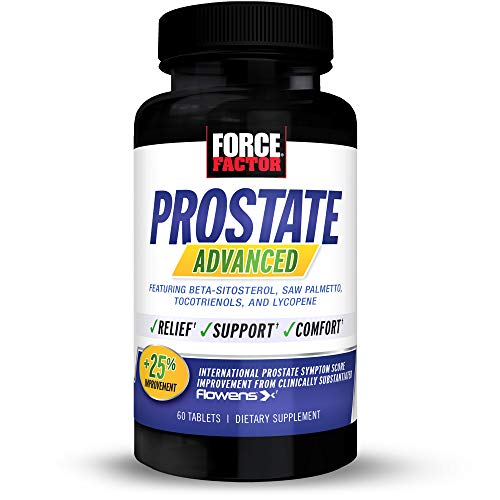 Force Factor Prostate Advanced, Health Supplement for Men for Reducing Nighttime Bathroom Trips, Bladder & Urinary Relief, with Saw Palmetto, Beta-Sitosterol, Tablets 60 Tablets (1-Pack) 60 Count