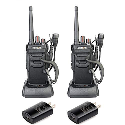 Retevis RT48 Walkie Talkies Rechargeable, Alarm VOX, IP67 Waterproof Two-Way Radios Skiing Hiking (1 Pair)
