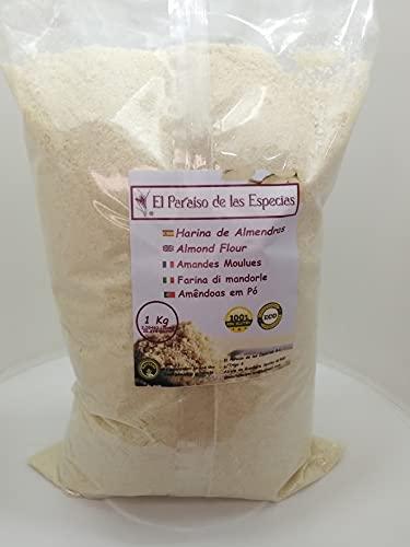 Harina de Almendras 1Kg - ECOLOGICA - Harina Natural 100 % Molido Fino - Gluten Free