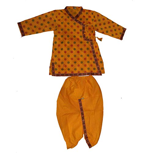 Kaku Fancy Dresses Krishna Costume for Kids | Kids Krishna Dress for Janmashtami/Kanha/Krishnaleela/Mythological Character Krishna Fancy Dress... 7