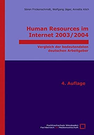 Human Resources im Internet 2003/2004 (German Edition) by Wolfgang J????ger (2004-02-26)