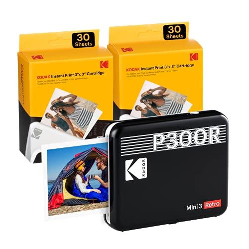 Kodak Mini 3 Stampante portatile per Smartphone + 6 Cartucce, Foto istantanee formato quadrato 76x76 mm,...