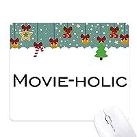 スマートなワードの映画です ゲーム用スライドゴムのマウスパッドクリスマス