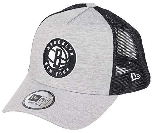 New Era Brooklyn Nets Jersey Essential A-Frame Adjustable Trucker Cap One-Size