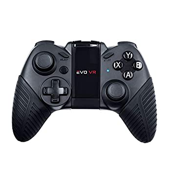 EVO VR - Pro Level Wireless Bluetooth Gamepad for Android,Smartphones Tablets and VR Headsets USB Wired Gamepad for Gaming Controller Black