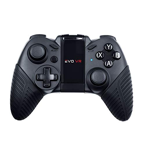 EVO VR - Pro Level Wireless Bluetooth Gamepad for Android,Smartphones, Tablets and VR Headsets, USB Wired Gamepad for Gaming Controller, Black