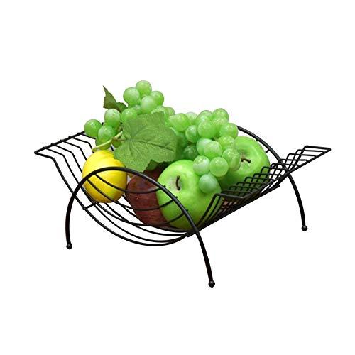 TIDLT Panier À Fruits en Métal avec Comptoir - Coupe À Fruits - Style Européen - Maintient Les Fruits Et Légumes Frais (Couleur : Black-34 * 19 * 13cm)