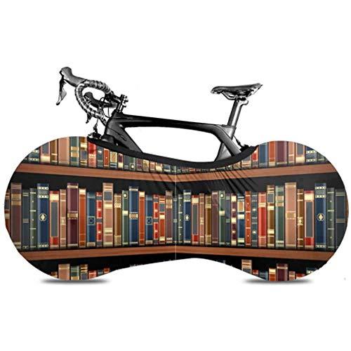 Ogden Moll Tisch Im Bücherregal Volle Bücher Radkappen Fahrrad Fahrrad Fahrradabdeckung Fahrradabdeckung Hält Fußböden Und Wände Schmutzfrei Passform Für Fast Alle Fahrräder