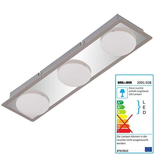Preisvergleich Produktbild Briloner LED Deckenleuchte,  Deckenlampe Badlampe,  inkl. Leuchtmittel EEK A+ 13, 5W 3-flammig