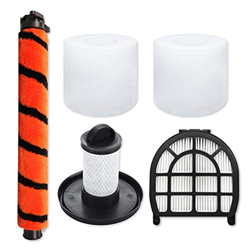 Leemone Replacement Parts for Shark LZ600, LZ601, LZ602, LZ602C APEX UpLight Lift-Away DuoClean Vacuum Cleaner,Accessory Pack of 1 Soft Brush,1 Pre-Motor Filter,1 Post-Motor Hepa Filter,2 Foam Filters