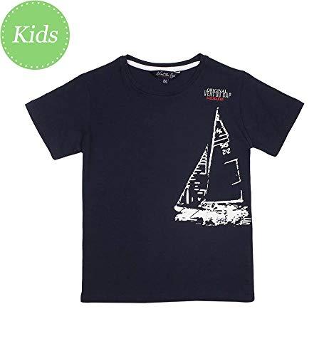Vent du cap -Tee-Shirt Manches Courtes garçon 10-16 Ans - ECADRIO-marine-10 Ans