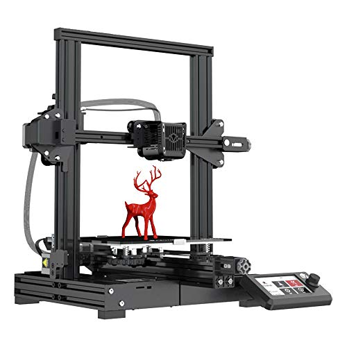 VOXELAB Aquila 3D Printer, DIY FDM All Metal 3D Printers Kit with Removable Carborundum Glass Platform, Resume Printing Function, Print Size 220x220x250mm (Black)