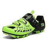 Zapatillas Profesionales de Bicicleta de Montaña para Hombre Mujer Zapatillas de Ciclismo MTB Transpirable Antideslizante Green 285