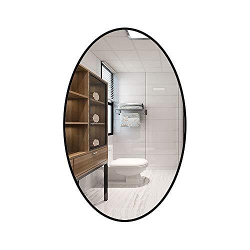 Family History Espejo Decorativo De Entrada, Marco Ovalado Creativo Espejo Colgante De Pared con Marco Negro para Baño Entrada Sala De Estar