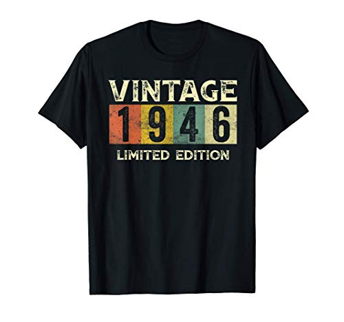 Vintage 1946 Limited Edition Gift 75th Birthday T-Shirt