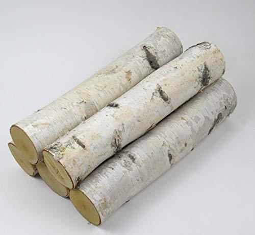 Large Birch Fireplace Log Set (5 Logs: 3-5 inch Dia. x 17-18 inch Long)