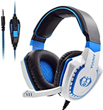 Anivia AH28 All-Platform Stereo Headphones Gaming Headset with Mic Compatible with PC Computers, Playstation PS4 Xbox One Controller, Android, iOS Laptop, Smartphone, Tablet