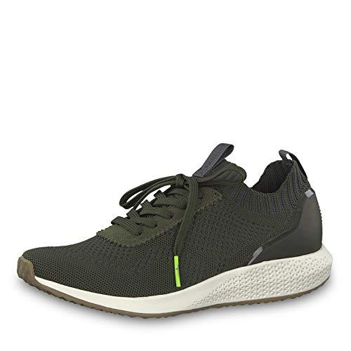 Tamaris Damen Schnürhalbschuhe 23714-23, Frauen sportlicher Schnürer, Sneaker schnürer sportlich modisch freizeitschuh Frauen,Olive,42 EU / 8 UK