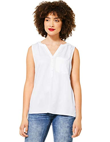 Street One Damen 342078 Bluse, White, 36